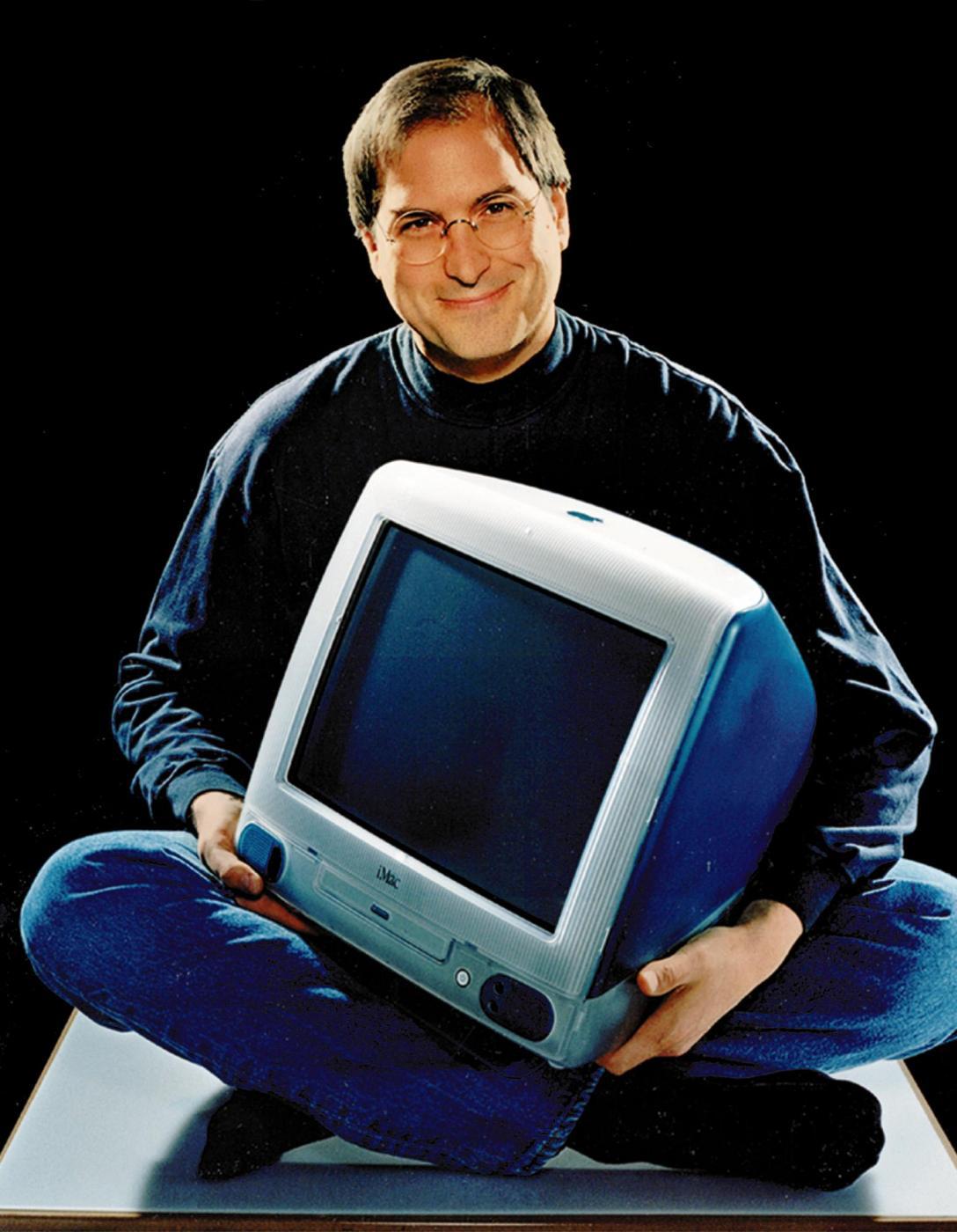 Hồ sơ nhân vật - Tiểu sử huyền thoại Steve Jobs - tieu su huyen thoai steve jobs 1998 chup hinh cung imac 1717 -
